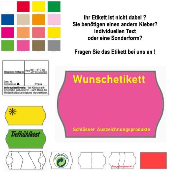 Etiketten 26 x 12 mm, Supersafestanzung mit Spezialkleber, weiß