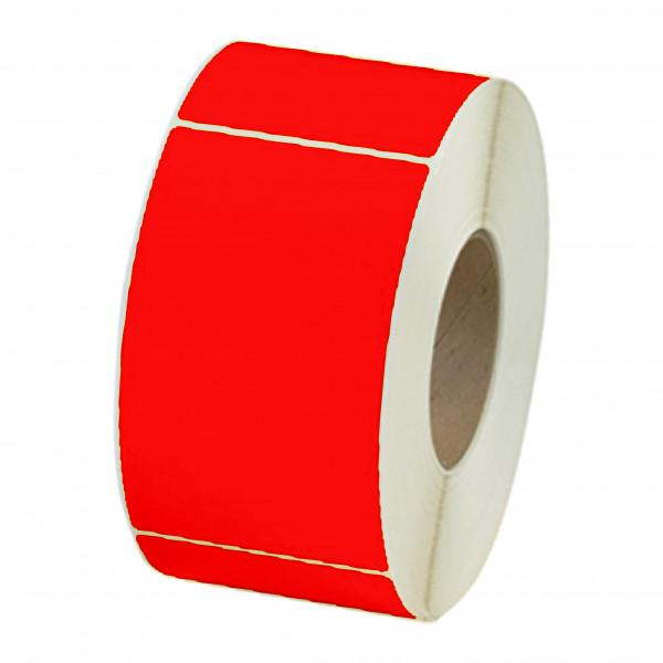Papieretiketten, 100mm x 150mm, leuchtrot, permanent