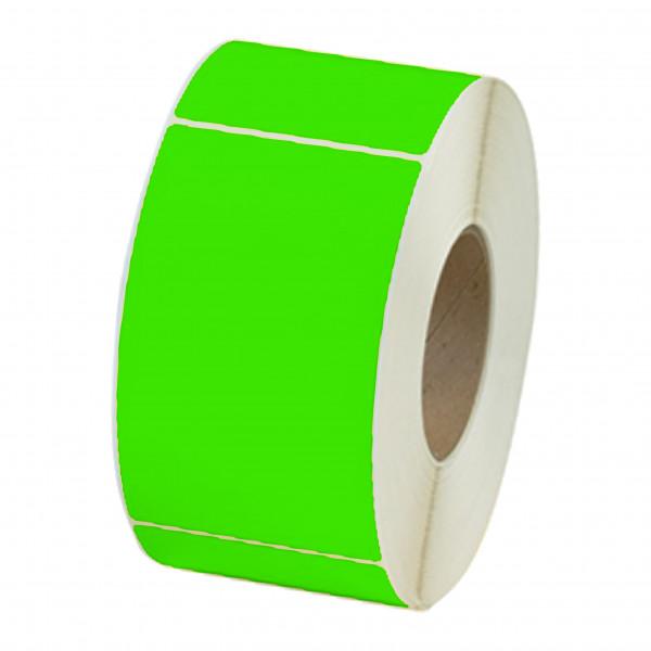 Papieretiketten, 100mm x 150mm, leuchgrün, permanent