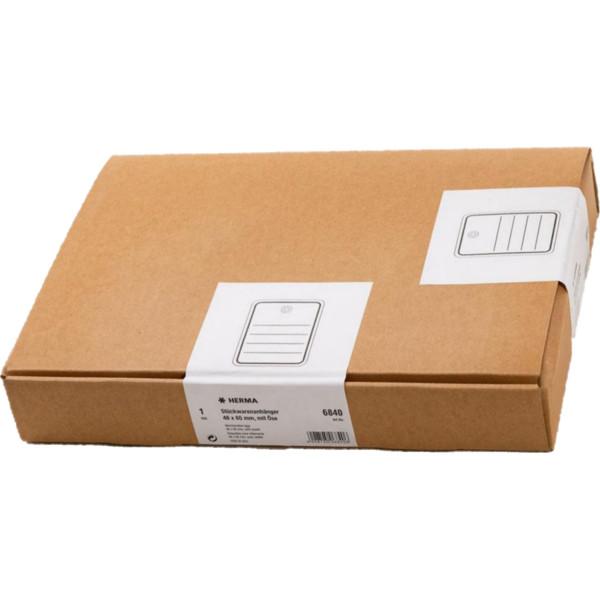Herma 6840 Karton 48 mm x 65 mm, mit Linien + Oese
