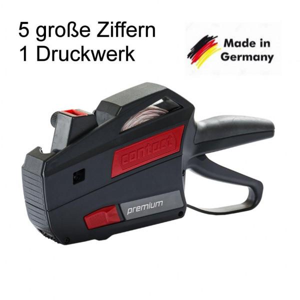 Preisauszeichner Contact 5-stellig Druckwerk 1-zeilig