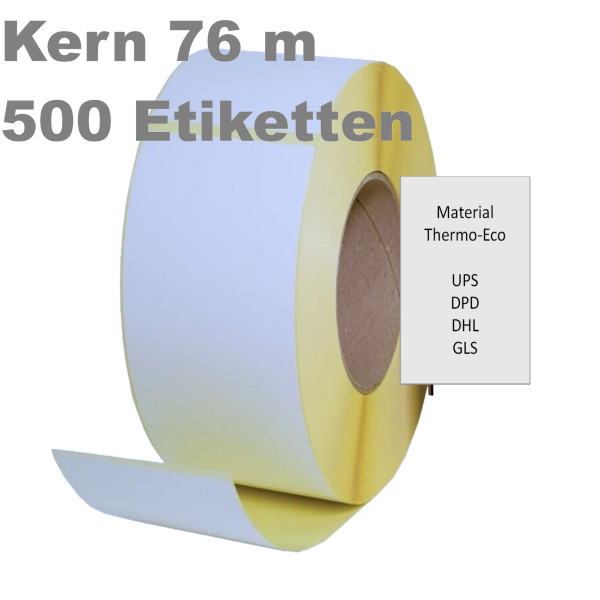 Thermoetiketten, 100mm x 200mm, weiss, permanent, Perforation