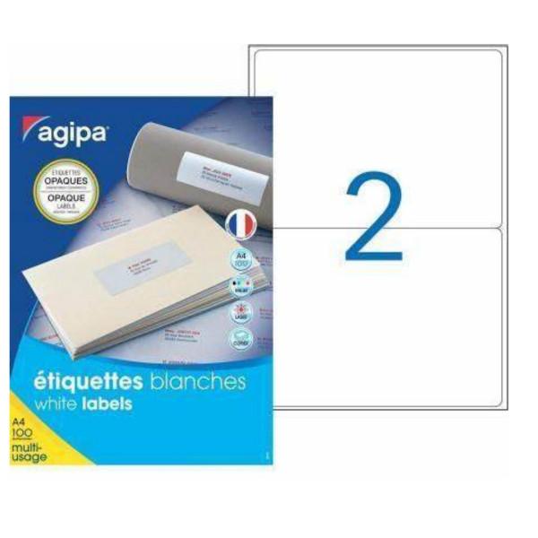Agipa Etiketten, blickdicht 199.6 x 143.5 mm, 100 Blatt DINA4