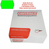 Etiketten 26 x 16 mm, standard, leuchtgrün