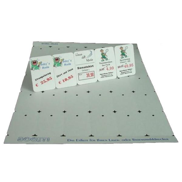 Bogeti Etiketten 35mmx53mm zum selber bedrucken, DinA4 Karton