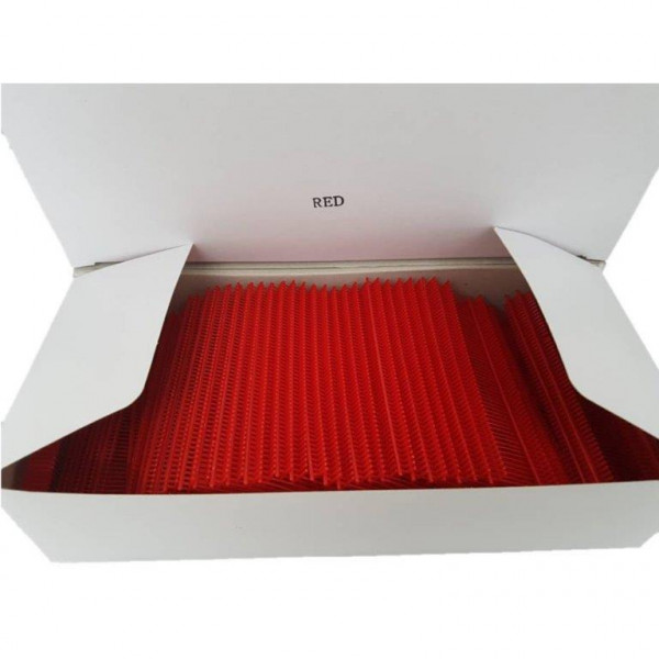 Heftfäden rot, preiswert 25mm