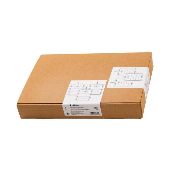 Herma 6822 Karton 40 mm x 50 mm, mit Linien, Oese, Faden+Splint