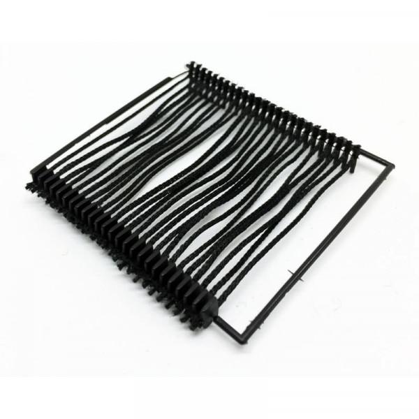 Textilfäden schwarz+weiss- Heftfäden aus Wolle (Rayon) 50 mm