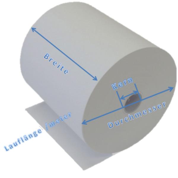 Papierrollen/Kassenrollen 38mmx45mx12mm