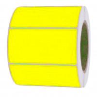 Papieretiketten, 100mm x 50mm, leuchtgelb, permanent