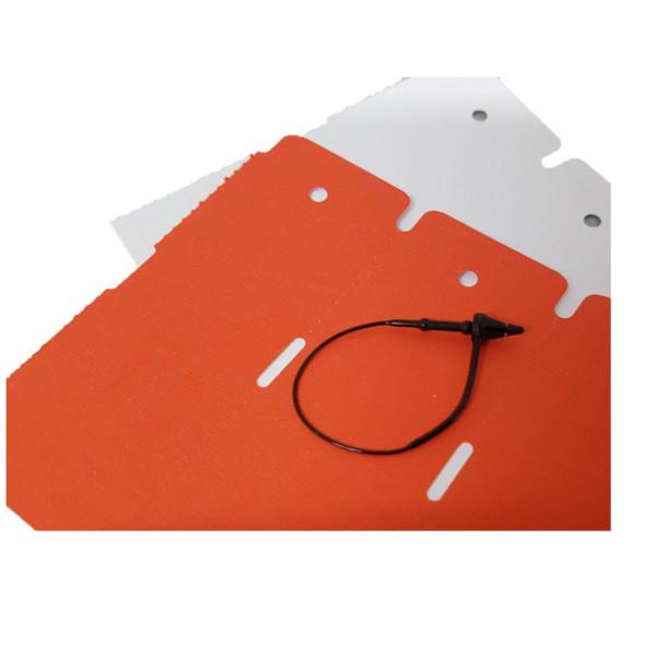 Preiswerte schwarze Sicherheitsfäden, Hütchenverschluss, PP, 75 mmm