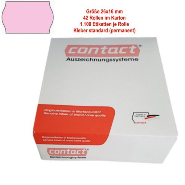 Etiketten 26 x 16 mm, standard, rosa