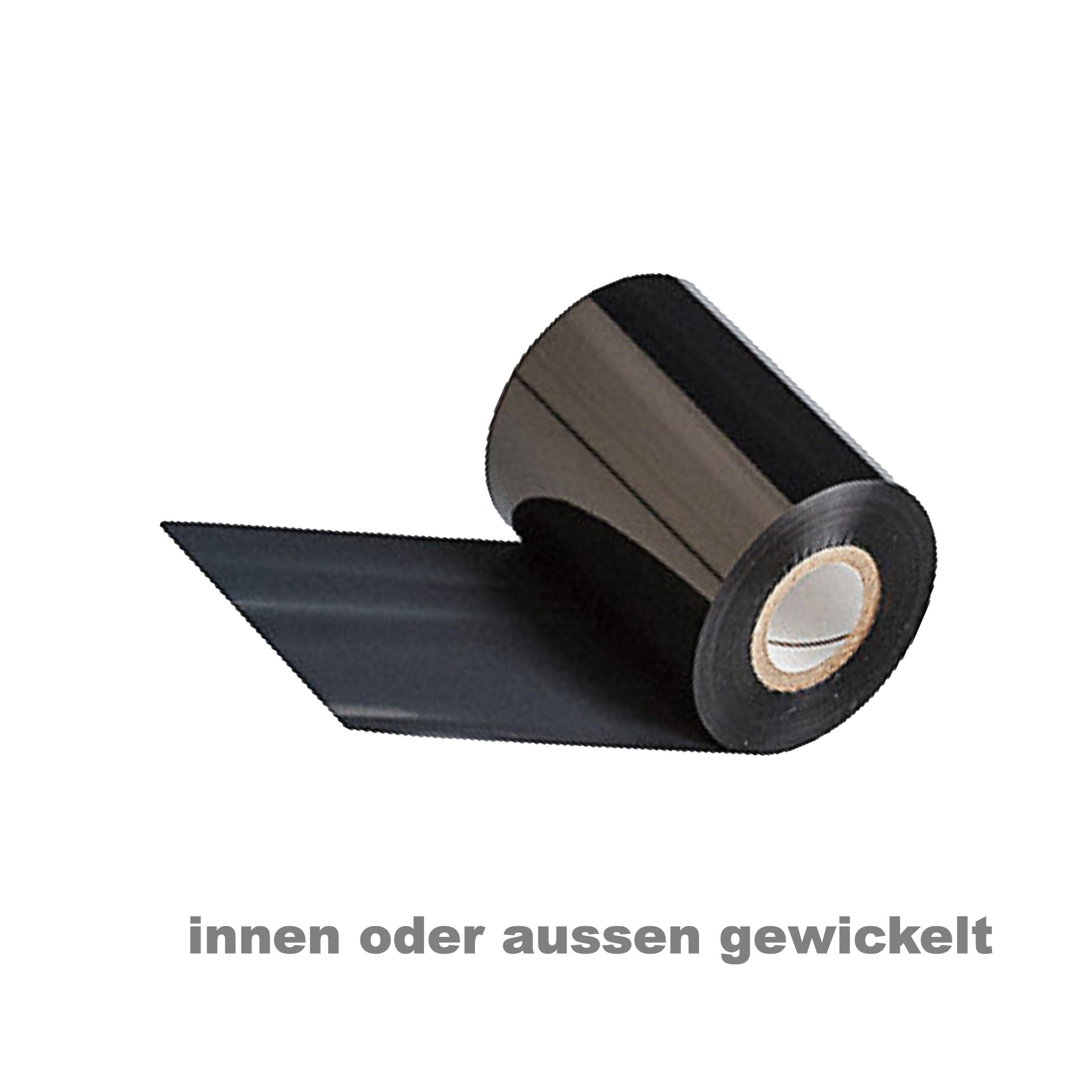 Thermotransfer Farbband f/ür Industriedrucker | Farbe: Gr/ün Breite x L/änge 1 Rolle 40mm x 300m HUTNER Thermotransferfolie Wachs Qual: 100