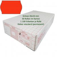 Etiketten 26 x 16 mm, standard, rot