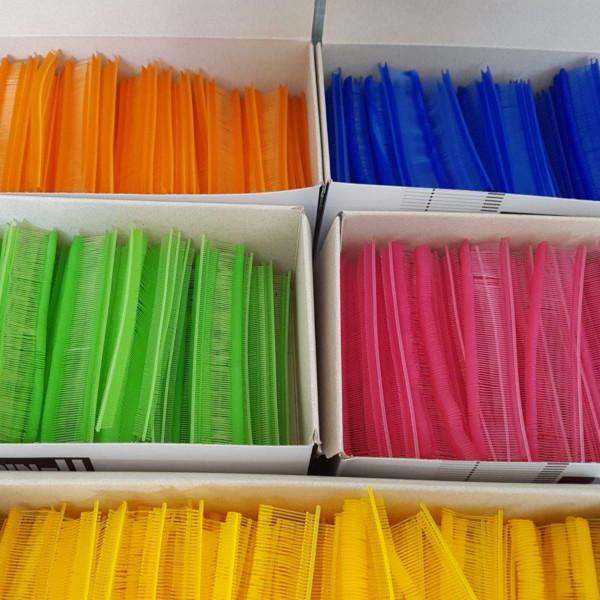 Feine Heftfäden-Sonderfarben blautöne 15,20,25,35 mm