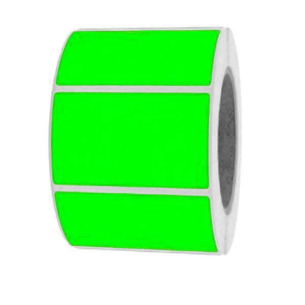 Papieretiketten, 60mm x 40mm, leuchtgrün, permanent