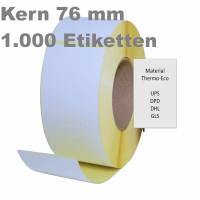 Thermoetiketten, 100mm x 150mm, weiß, permanent, Perforation