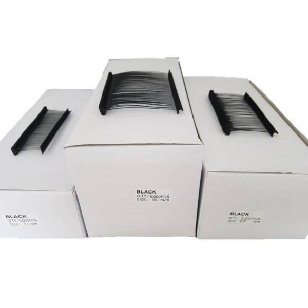 Heftfäden schwarz, preiswert, 25, 40 oder 65 mm