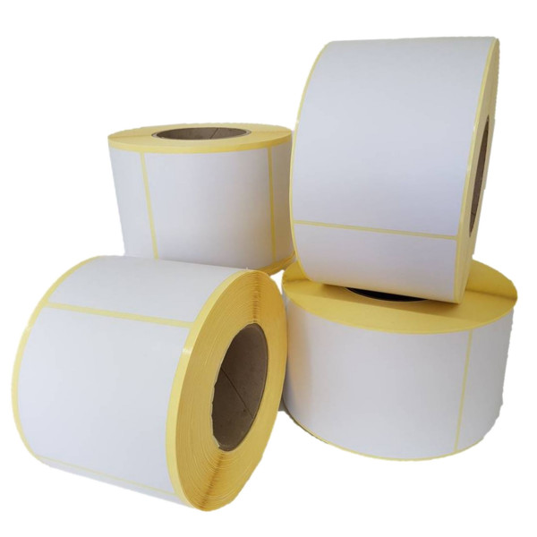 Papieretiketten, 100mm x 74mm, weiss, permanent