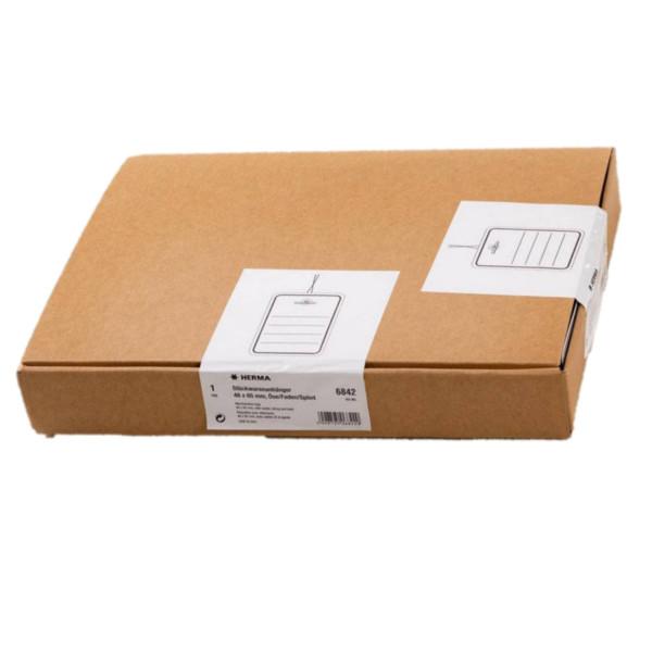 Herma 6842 Karton 48 mm x 65 mm, mit Linien, Oese, Faden+Splint