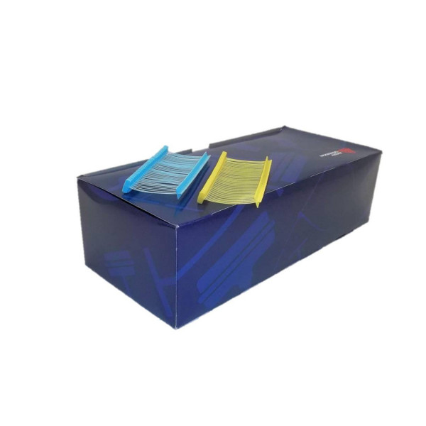 blaue Heftfäden, lebensmitteltauglich, 20 mm + 40 mm