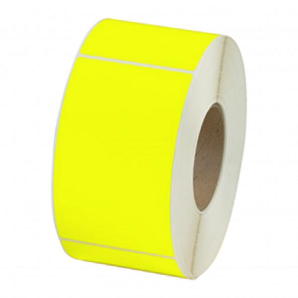 Papieretiketten, 100mm x 150mm, leuchgelb, permanent